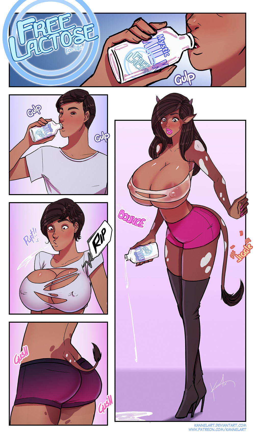 transformation sequence male female to Furry female tf henti comic