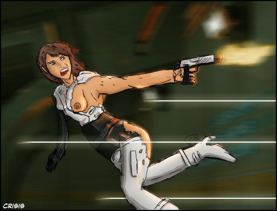 female 2 half combine life Highschool of the dead rei miyamoto