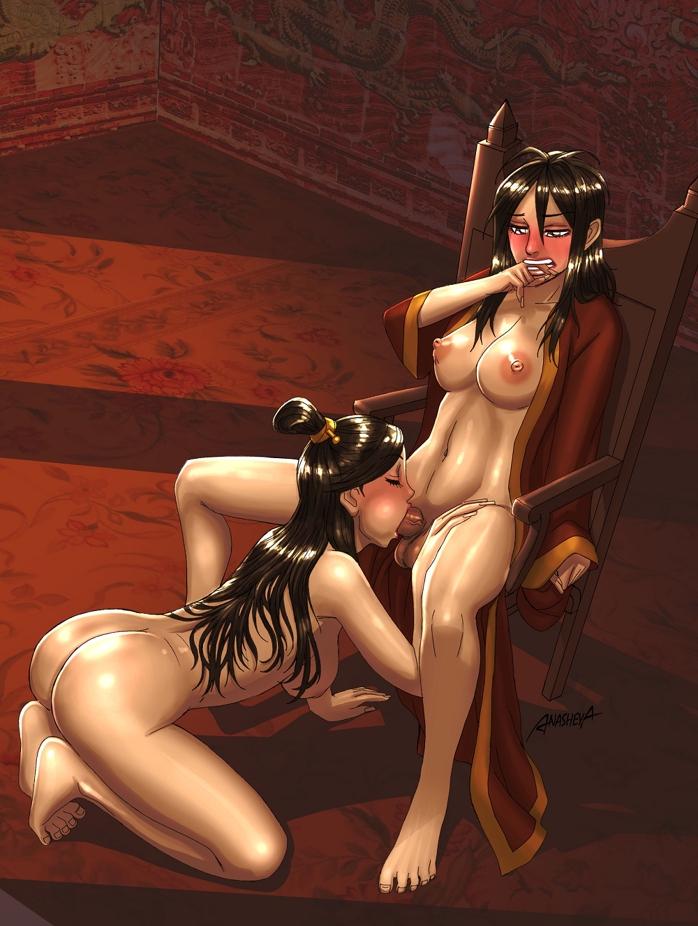 futa airbender the last avatar Sonic and amy having it in bed