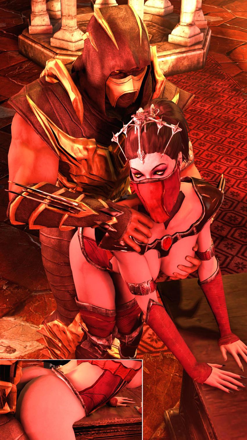 and mileena kombat baraka mortal Female dragon x male human