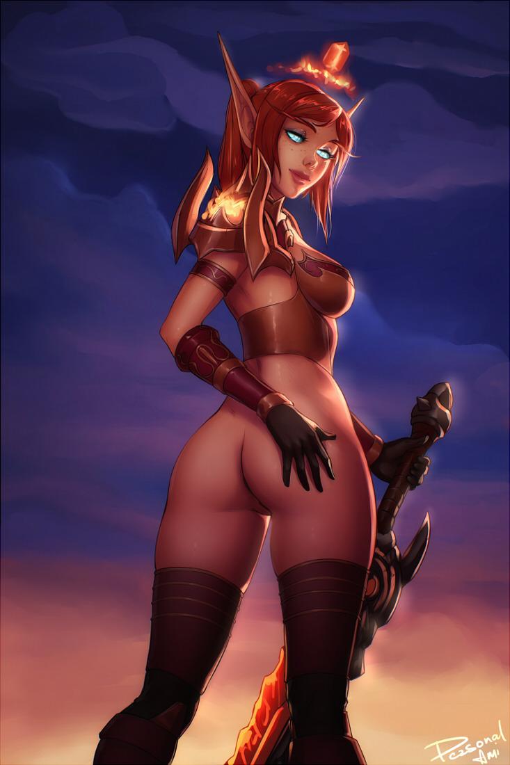 knight blood death female elf Mercenary skin risk of rain 2